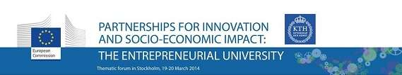 "Thematic Conference From The European Commission: ""Partnerships For Innovation And Socio Economic Impact"""