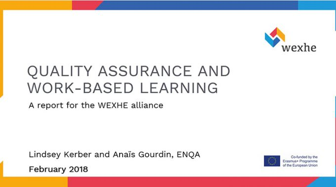 Quality Assurance Of Work-Based Learning In The European Higher Education Sector