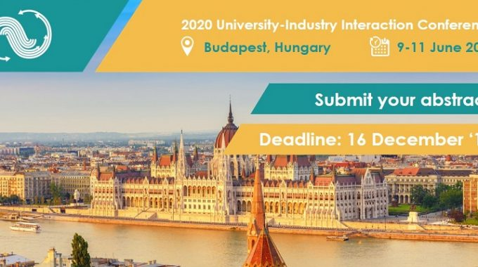 2020 University-Industry Interaction Conference: Call For Abstracts Is OPEN!